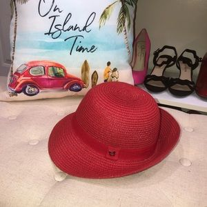 Magid Hats NWOT! Red Straw Sun Hat One Size